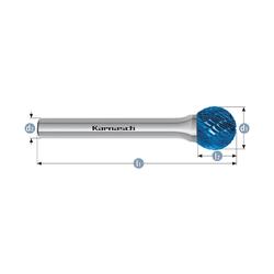 Борфрезы твердосплавные Karnasch сфера Karnasch Фрезерный инструмент Инструмент и оснастка