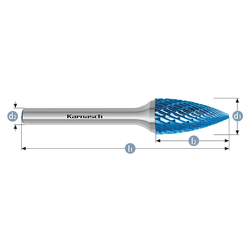 Борфрезы твердосплавные Karnasch парабола с заостренной головкой Karnasch Фрезерный инструмент Инструмент и оснастка