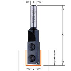 Фрезы прямые пазовые со сменными ножами CMT Концевые со сменными ножами Фрезы по дереву