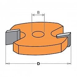 Фрезы пазовые сменные для комплектов - запчасти CMT Концевые Фрезы по дереву