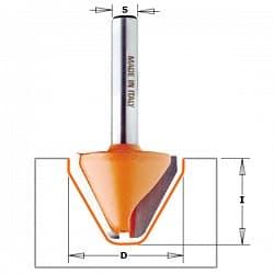 Фрезы для гравировки (закруглённый угол 60°) CMT Концевые Фрезы по дереву