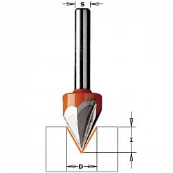 Фрезы гравировальные (угол 60°) z=2 и z=3 CMT Концевые Фрезы по дереву