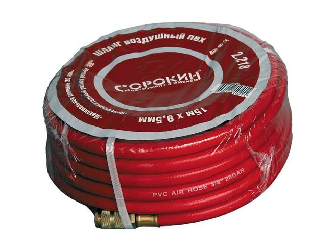 "Сорокин 2.218 Шланг воздушный PVC 15м, 3/8"" Сорокин Запчасти Пневматический"